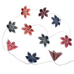 Guirlande 10 led fleurs multicolores à piles