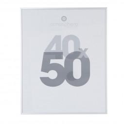 Cadre photo couelur alu argent 40x50 cm