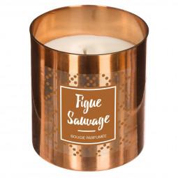 Bougie parfumée figue sauvage en pot métal 400g