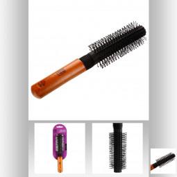 Brosse à cheveux pour brushing avec manche bois