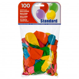 Lot de 100 Ballons Gonflables Multicolore