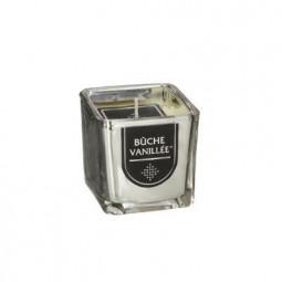 Bougie parfumée en verre ARGENT H5 cm