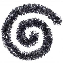 Guirlande de Noël large 10 cm Noir Acier Longueur 200 cm La maison des couleurs