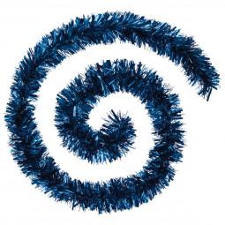 Guirlande de Noël large 10 cm Bleu Longueur 200 cm La maison des couleurs