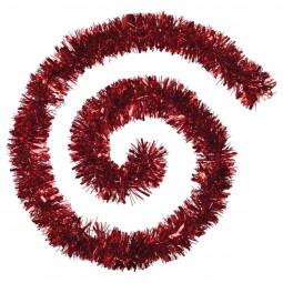 Guirlande de Noël large 10 cm Rouge Longueur 200 cm La maison des couleurs