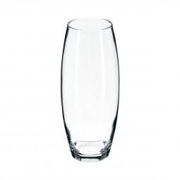 Vase florale bombé transparent H26