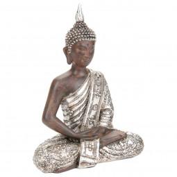 Bouddha décor argent H28