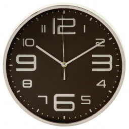 Pendule plastique black/silver D30