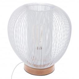 Lampe métal fil blanche H27