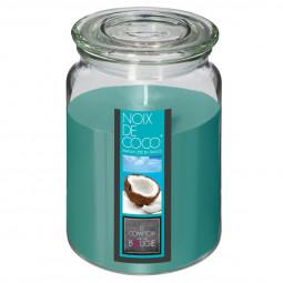 Bougie parfumée coco pot verre 510G