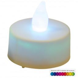2 bougies LED à variation de couleurs D 3.8 cm