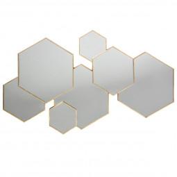 Miroir multi hexagone Lila 61X37