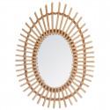 Miroir rotin ovale