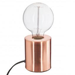 Lampe métal tube cuivre H10