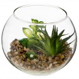 Plante verte boule verre D12
