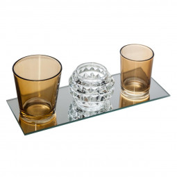 Set de 3 photophores + miroir