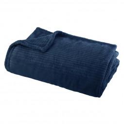 Plaid flanel andrew bleu 125x150 cm