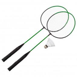 Lot de 2 Raquettes de Badminton + volant