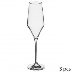 Lot de 3 flûtes à champagne clarillo 22cl