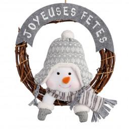 Décoration de Noël Couronne Joyeuses Fêtes et sa peluche D 36 cm Les incontournables
