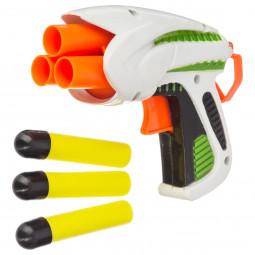 Pistolet mécanique + 3 balles en mousse