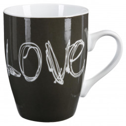 Lot de 4 mugs ronds 34cl  Love