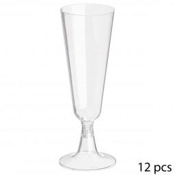 Flûtes à champagne jetables X12