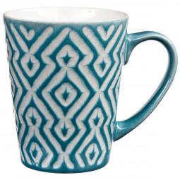 Lot de 4 mugs coniques géométriques 32cl