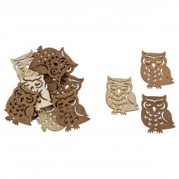 Sachet 12 accessoires de déco Noël Animaux en Bois A l'orée des bois