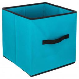 Boîte de rangement turquoise 31x31