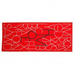 Tapis décor lettres 50x120 cm