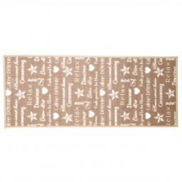 Tapis décoré cocooning 50x120 cm