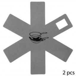 Lot de 2 protections anti-rayures en feutrine