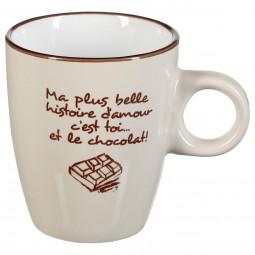Mug rond chocolat 19cl
