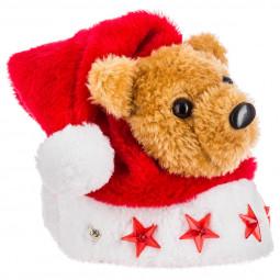 Bonnet de noël pour jeunes enfants avec peluche et lumineux à LED Les incontournables