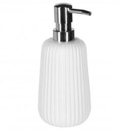 Distributeur à savon finition mat blanc
