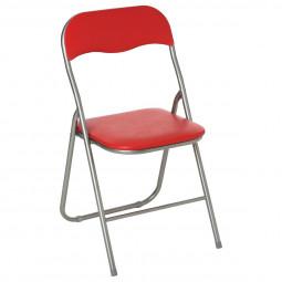 Chaise pliante rouge  basic