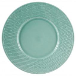 Assiette plate torsade turquoise D29