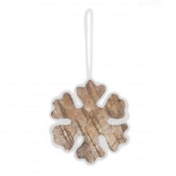 Décoration Sujet de Noël  Forme en feutrine contour en laine L 18 cm  A l'orée des bois