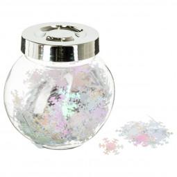 Bocal de Confettis Blanc brillant La maison des couleurs
