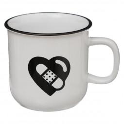 Mug 42cl- Email coeur