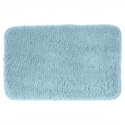 Tapis de bain en microfibre bleu 50X80
