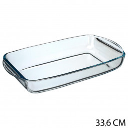 Plat rectangle en verre 34X19