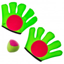 Jeu attrape-balle - 1 balle + 2 gants