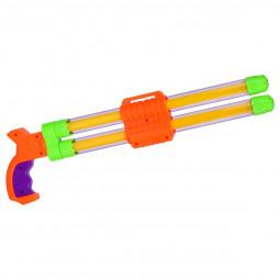 Pistolet à pompe à eau 2 Jets - 42 cm
