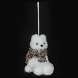 Décoration Sujet de Noël Renard avec écharpe H 11 cm  A l'orée des bois