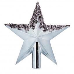 Décoration de sapin de Noël Cimier étoile Gris 22 cm