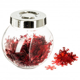 Bocal de Confettis Rouge brillant La maison des couleurs
