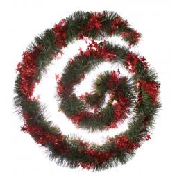 Guirlande de Noël Verte avec étoiles Longeur 300 cm Comptoir de Noël
