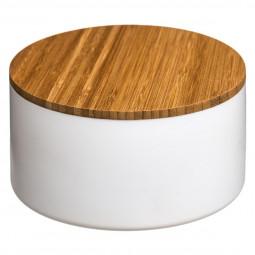 Boîte de rangement + couvercle miroir blanc